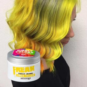 Freak Direct Colors Lemon Yellow 135ml, bezpośrednia farba do włosów, żółta cytryna