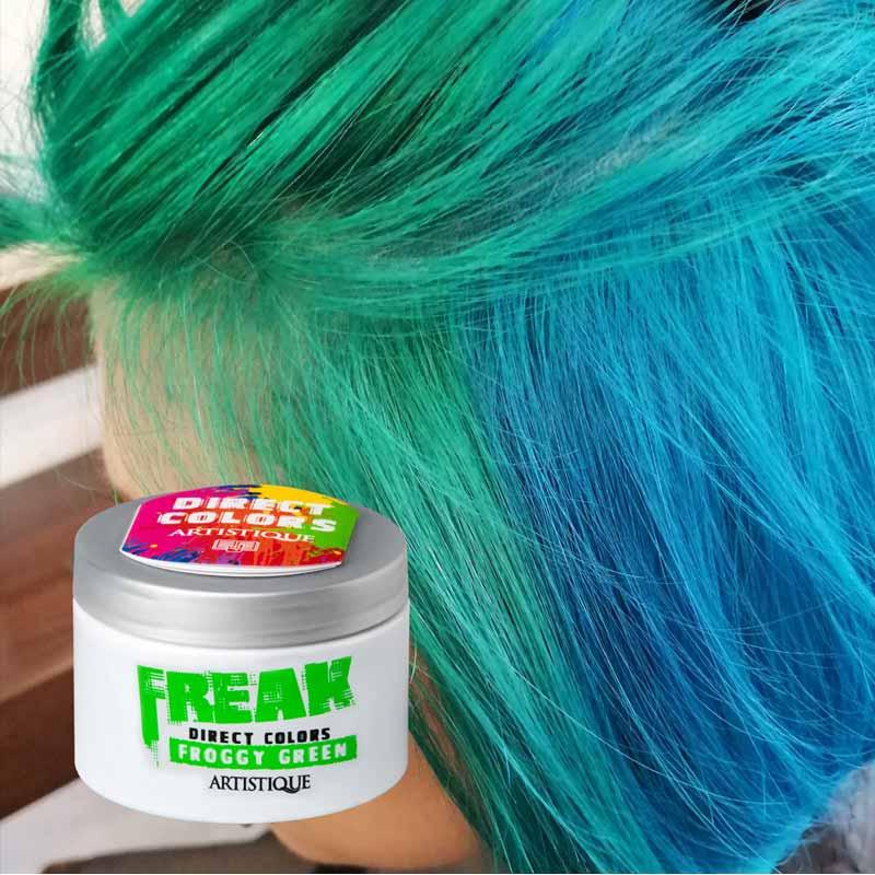 Artistique kolorowe włosy z Freak direct colors - neonowe włosy