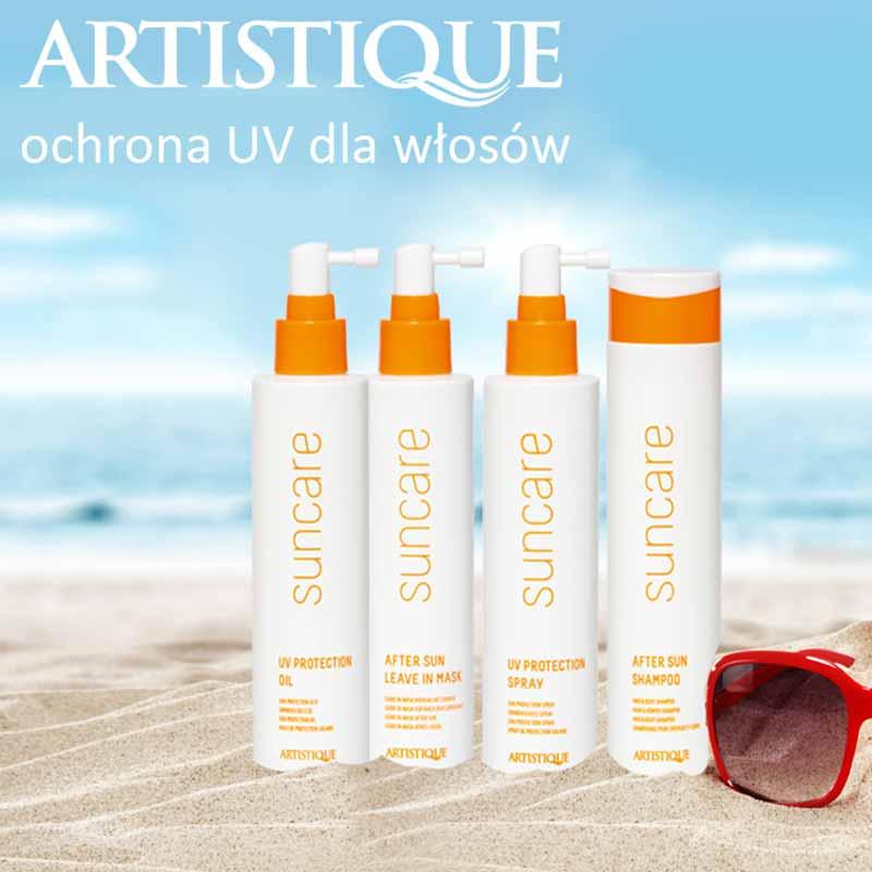 Artistique suncare - sria kosmetyków do włosów Artistique suncare - seria kosmetyków do włosów z filtrem uvz filterm uv